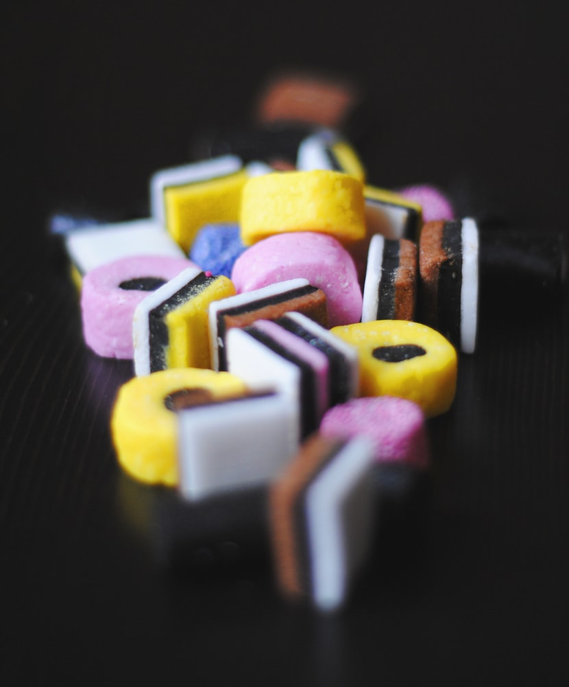 Candy with liquorice .